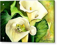 Green Peace Acrylic Print by Lyse Anthony