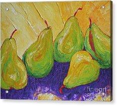 Green Pears Acrylic Print by Paris Wyatt Llanso
