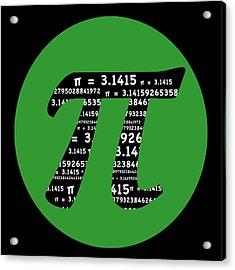 Green Pi Acrylic Print