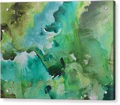 Green Piece Acrylic Print