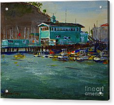 Green Pier Early Evening Acrylic Print