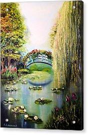 Green Pond Acrylic Print by Svetlana Semenova