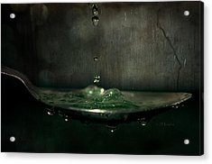 Green Potion In Motion Acrylic Print