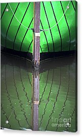 Green Reflection Acrylic Print by Heiko Koehrer-Wagner