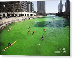 Green River Chicago Acrylic Print