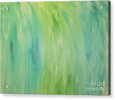 Green Shades Acrylic Print by Barbara Yearty