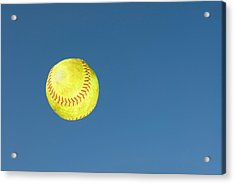 Green Softball Acrylic Print