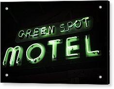 Green Spot Motel Acrylic Print