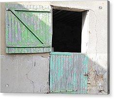 Green Stable Door Acrylic Print