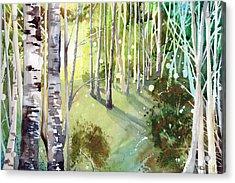 Green Sun Acrylic Print