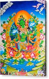 Green Tara 12 Acrylic Print by Lanjee Chee