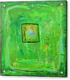 Green Tea And Music Acrylic Print