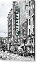 Green Tennessee Theatre Marquee Acrylic Print