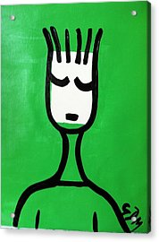 Green Thoughts Acrylic Print by Gdm