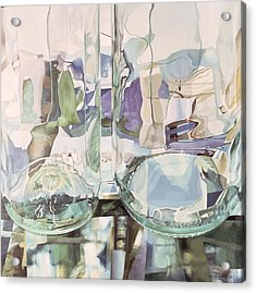 Green Transparency Transparence Verte 1981 Oil On Canvas Acrylic Print by Jeremy Annett