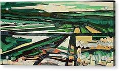 Green Valley Views Acrylic Print by Catherine Jones Davies