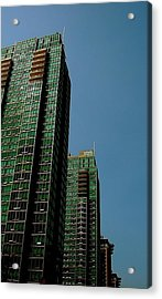 Green Vancouver Towers Acrylic Print