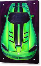 Acrylic Print featuring the painting Green Viper by Sheri  Chakamian