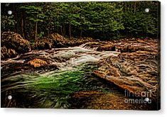Green Water  Acrylic Print