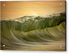 Green Wave #2  C6j7496 Acrylic Print by David Orias