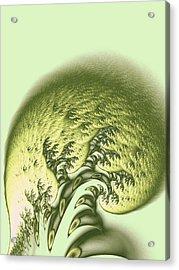 Green Wave Acrylic Print by Anastasiya Malakhova