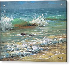 Green Wave Acrylic Print