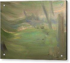 Green Wind Acrylic Print by Tanya Byrd