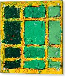 Green Windows Acrylic Print by Kelly Athena