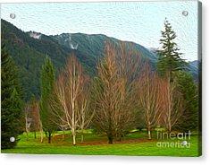 Green Winter Acrylic Print by Nur Roy