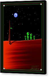 Green With Envy - Scratch Art Series - #5 Acrylic Print by Steven Lebron Langston