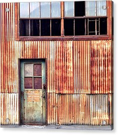 Green With Rust Acrylic Print