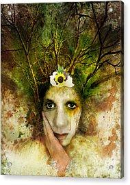 Green Woman Acrylic Print