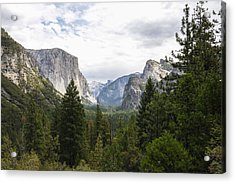 Green Yosemite Valley Acrylic Print