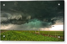 Greenage Acrylic Print by Chris Sanner