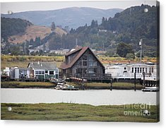 Greenbrae California Boathouses At The Base Of Mount Tamalpais 5d29347 Acrylic Print