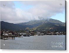 Greenbrae California Boathouses At The Base Of Mount Tamalpais 5d29350 Acrylic Print