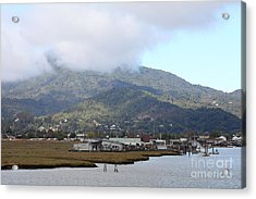 Greenbrae California Boathouses At The Base Of Mount Tamalpais 5d293506 Acrylic Print