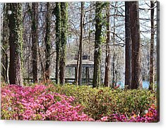 Greenfield Park And Lake Acrylic Print by Cynthia Guinn