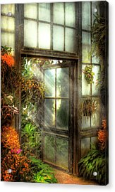 Greenhouse - The Door To Paradise Acrylic Print by Mike Savad