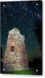 Greenknowe Tower Acrylic Print by David Peat