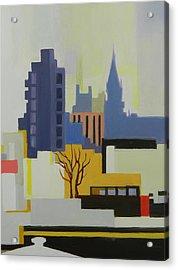 Greenpoint From Pulaski Bridge Acrylic Print