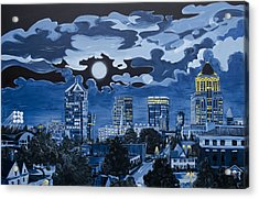 Greensboro Night Skyline Acrylic Print