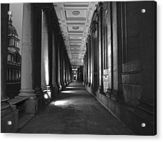 Greenwich Royal Naval College Hdr Bw Acrylic Print by David French