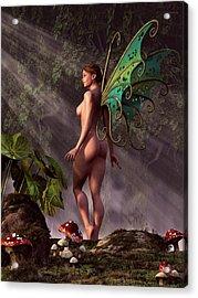 Greenwood Fairy Acrylic Print by Kaylee Mason