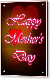 Greeting Card For Mothers 2 Acrylic Print