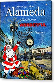 Acrylic Print featuring the photograph Alameda Christmas Greeting by Linda Weinstock