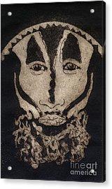 Greetings From New Guinea - Mask - Tribesmen - Tribesman - Tribal - Jefe - Chef De Tribu Acrylic Print