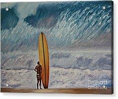 Greg Noll - Waimea Bay Oahu Acrylic Print