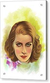 Greta Garbo Acrylic Print by Andrzej Szczerski