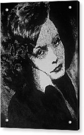 Greta Garbo Acrylic Print by Cherise Foster